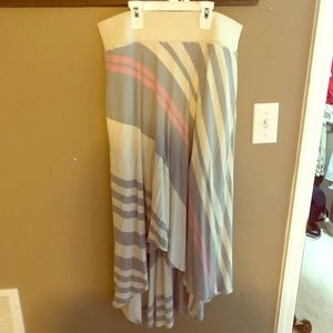 Anthropologie high low sweater skirt